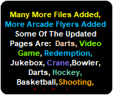 More Arcade Art Files Added, Hundreds More Arcade Manuals Added,Arcade Touchscreen Manuals & Flyers Added